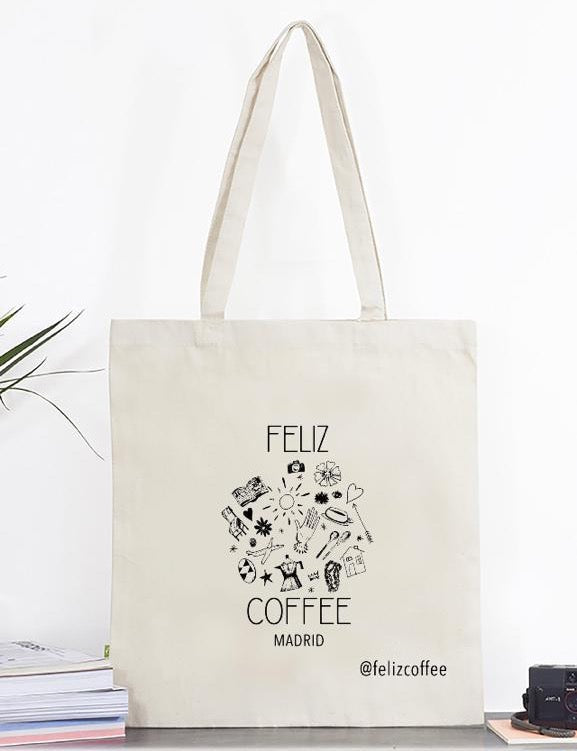FELIZ Coffee Logo Cotton Tote Bag