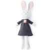 Hazel Village Organic Penelope Rabbit in Pebble Gray Dress
