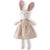 Hazel Village Organic Emma Rabbit in Peach Linen Dress