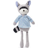 Hazel Village Organic Max Raccoon in Blue Gingham Shirt