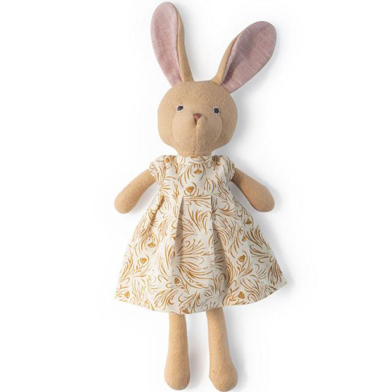 Hazel Village Organic Juliette Rabbit in Herb Meadow Dress