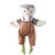 Hazel Village Organic Jeremy Owl in Clay Linen Overalls and Linen Shirt