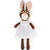 Hazel Village Organic Zoe Rabbit in Snowy White Linen Dress and Flower Crown