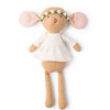 Hazel Village Organic Annicke Mouse in Natural Tunic and Green Flower Crown