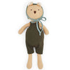 Hazel Village Organic Nicholas Bear in Picnic Overalls and Bonnet