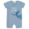 FIRSTS by Petit Lem Organic Baby Short Sleeve Playsuit - Catch of the Day Blue