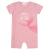FIRSTS by Petit Lem Organic Baby Short Sleeve Playsuit - Catch of the Day Pink