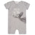 FIRSTS by Petit Lem Organic Baby Short Sleeve Playsuit Catch of the Day Gray