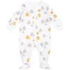 FIRSTS by Petit Lem Organic Baby Footed Sleeper Pumpkin