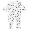 FIRSTS by Petit Lem Organic Baby Footed Sleeper Blueberry