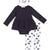 FIRSTS by Petit Lem Organic Baby Onesie Dress 3-Piece Set Blueberry