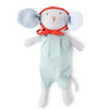 Hazel Village Organic Catalina Mouse in Egg Blue Romper and Red Bonnet