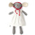 Hazel Village Organic Catalina Mouse in White Linen Dress and Bonnet