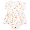 FIRSTS by Petit Lem Organic Onesie Dress - Peaches