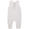 FIRSTS by Petit Lem Organic Muslin Sleeveless Playsuit - Window Pane