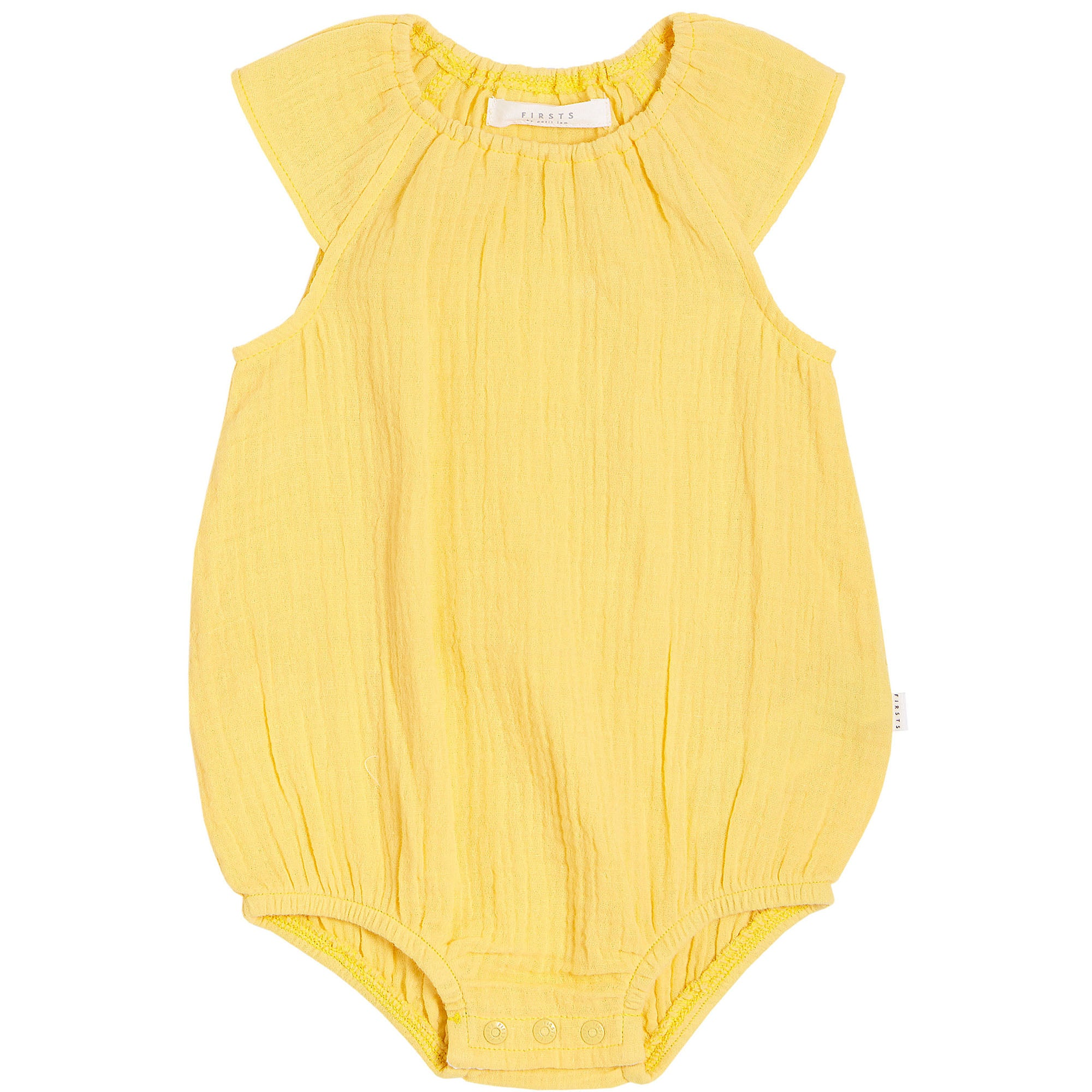 FIRSTS by Petit Lem Organic Muslin Bubble Romper - Sole Mio