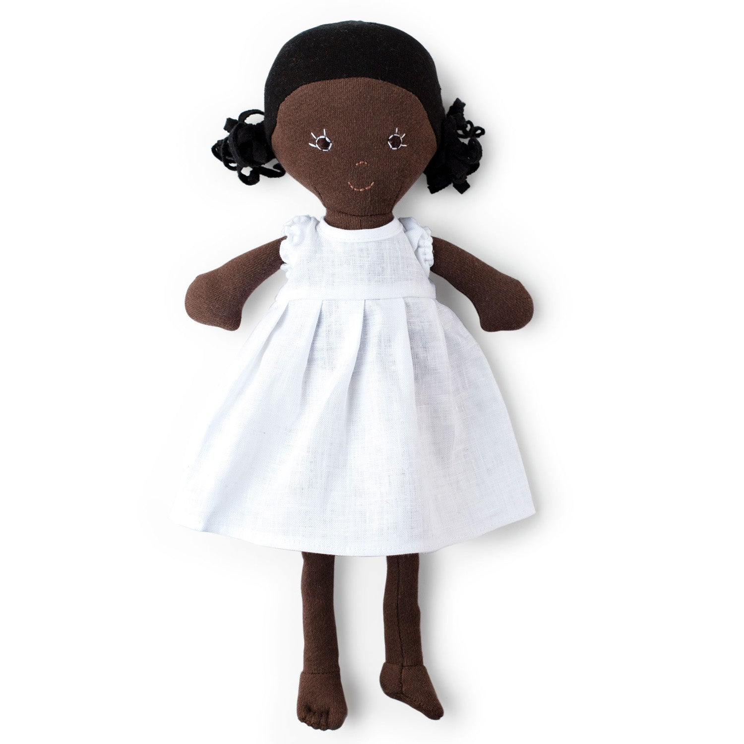 Hazel Village Organic Ada Doll in Snowy White Linen Dress