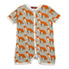 Milkbarn Organic Cotton Shortall Orange Fox