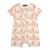 Milkbarn Organic Cotton Shortall Rose Elephant