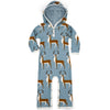 Milkbarn Organic Hooded Romper Blue Buck