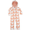 Milkbarn Organic Hooded Romper Rose Elephant