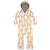 Milkbarn Organic Hooded Romper Yellow Giraffe