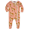 Milkbarn Organic Footed Romper Rose Doe (Deer)