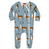 Milkbarn Organic Footed Romper Blue Buck