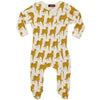Milkbarn Organic Footed Romper Cheetah