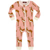 Milkbarn Organic Zipper Pajama - Rose Doe (Deer)