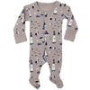 L'ovedbaby Organic Cotton Footie - Sail Light Gray
