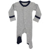 L'ovedbaby Organic Cotton Footie Navy Heather