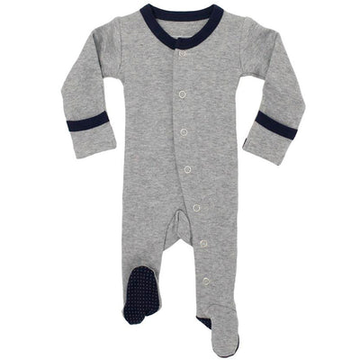 L'ovedbaby Organic Cotton Footie - Navy Heather