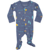 L'ovedbaby Organic Cotton Footie Surf Slate