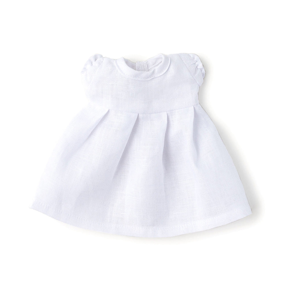 Hazel Village White Linen Dress for Dolls