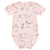 Me Too Organic Short Sleeve Bodysuit Circus Pink