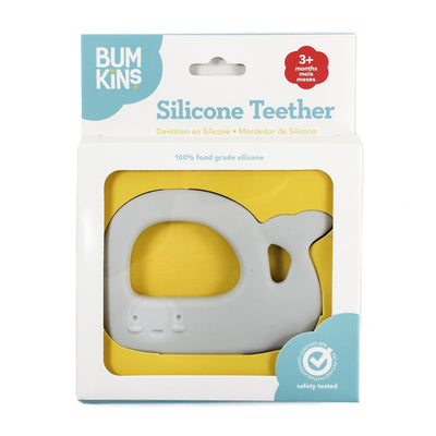 Bumkins Silicone Teether Whale