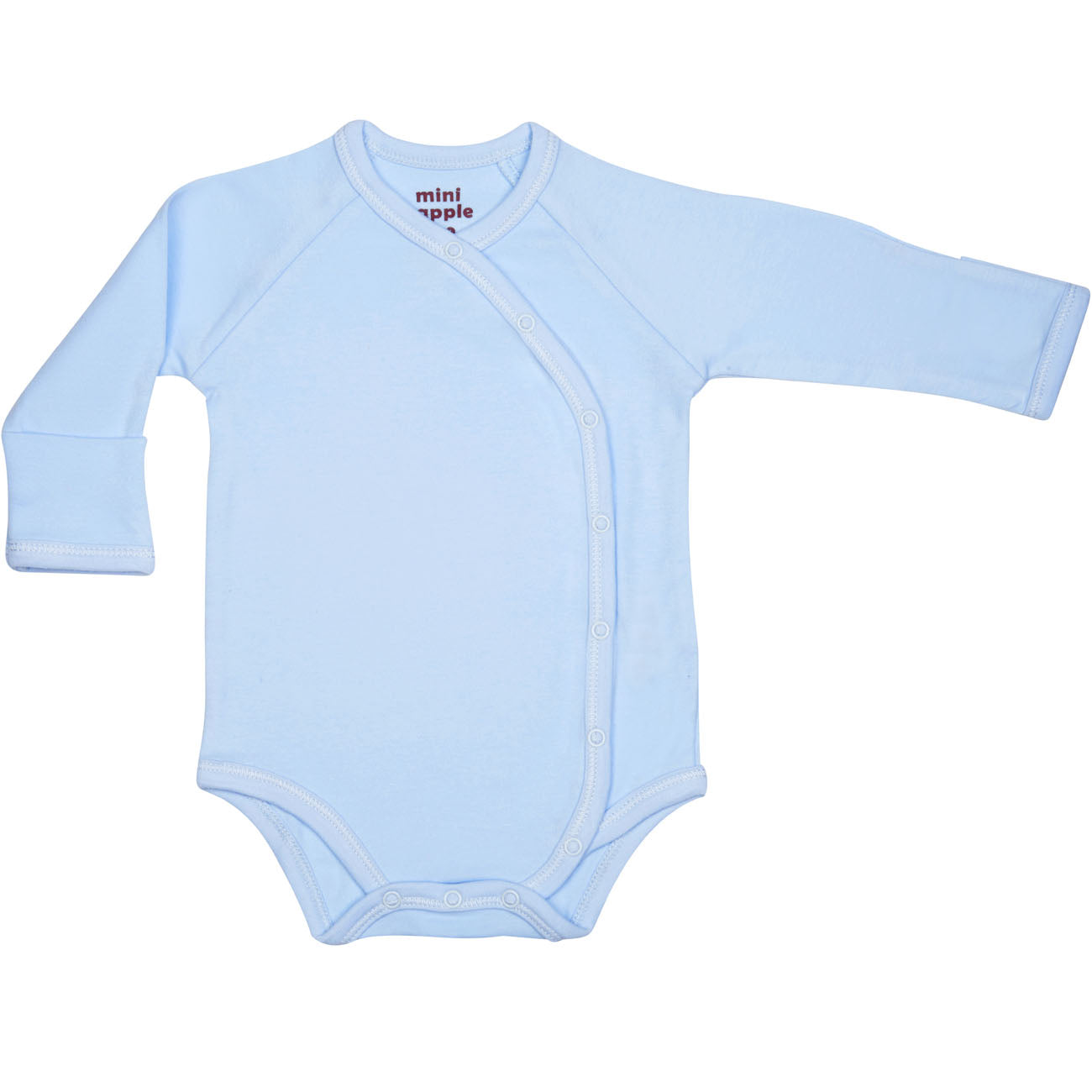 Organic Baby Essentials Long Sleeve Bodysuit with Side Snaps Blue