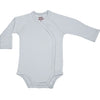 Organic Baby Essentials Long Sleeve Bodysuit with Side Snaps Gray