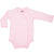 Organic Baby Essentials Long Sleeve Bodysuit with Side Snaps Pink