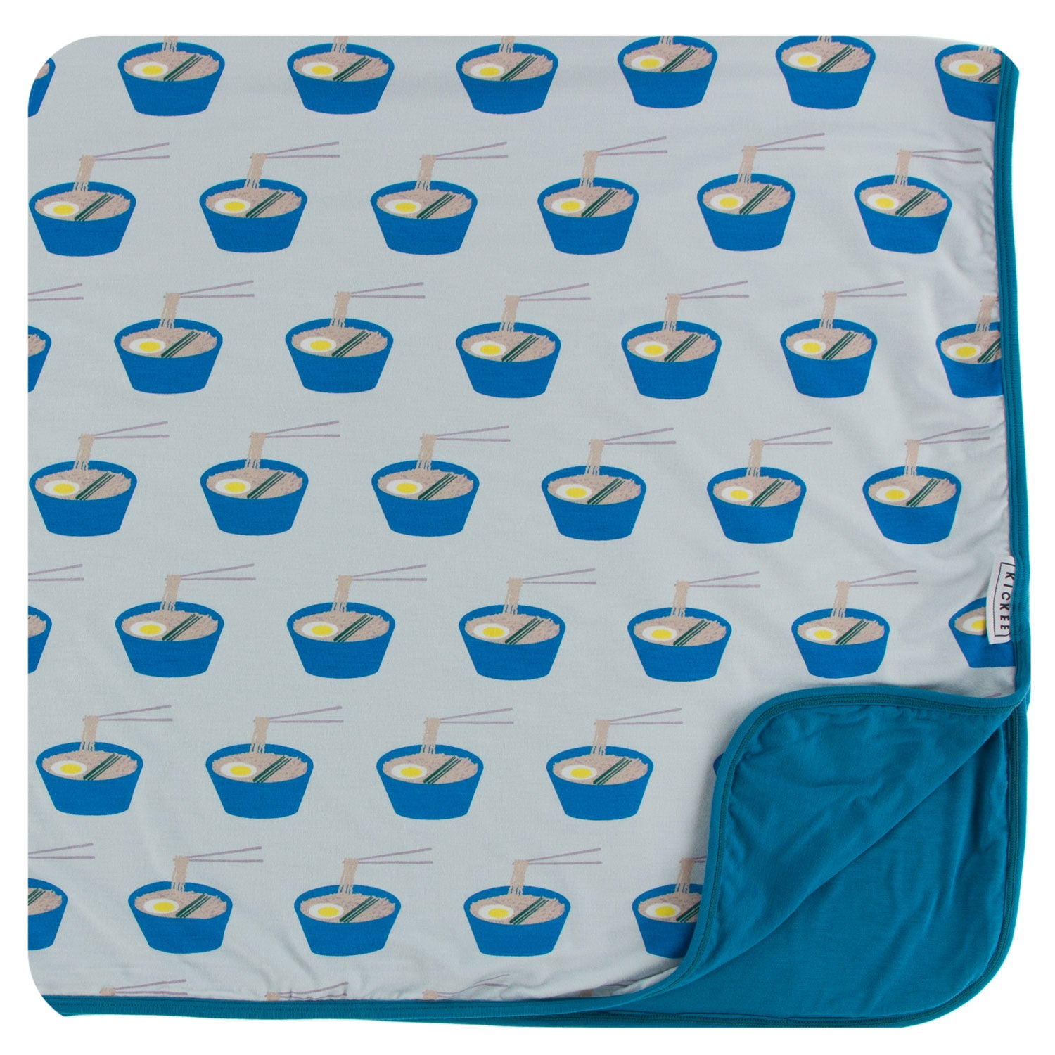 KicKee Pants Toddler Blanket - Illusion Blue Ramen