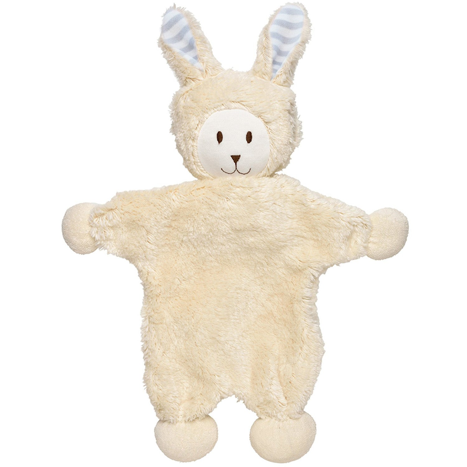 Under the Nile Organic Snuggle Bunny Toy - Grey Stripe Ears