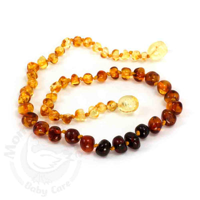 Momma Goose Baby Amber Teething Necklace Baroque - Rainbow