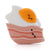 Loulou Lollipop Silicone Teether - Bacon and Egg