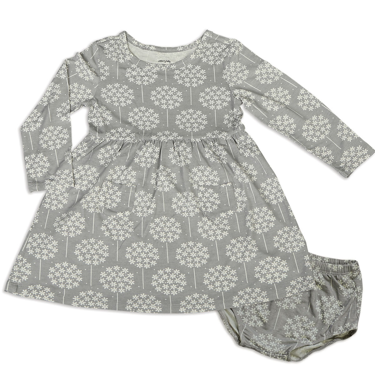 Silkberry Baby Bamboo Dress with Bloomer - Dandelion