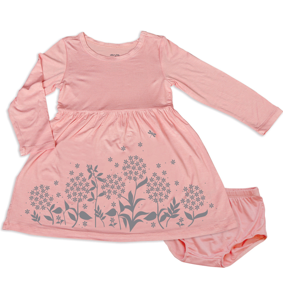 Silkberry Baby Bamboo Dress with Bloomer - Powder Pink