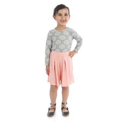 Silkberry Baby Bamboo Girls Culottes - Powder Pink