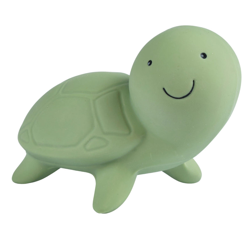 Tikiri Toys Natural Rubber Teether, Rattle & Bath Toy - Turtle