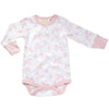 Sapling Organic Long Sleeve Bodysuit - Galaxy Bear Pink