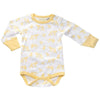 Sapling Organic Long Sleeve Bodysuit - Galaxy Bear Yellow